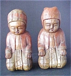 Click here to enlarge image and see more about item A310: Hand Carved Wooden Burmese Dolls