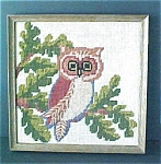 Click to view larger image of Framed Needlework of Owl (Image1)