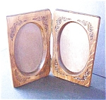 Click here to enlarge image and see more about item A348: Vintage Wooden Double Frame