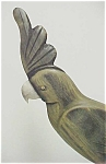 Carved Wooden Parrot With Inset Eyes