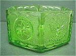 Click to view larger image of Hexagon  Green  Glass Bowl (Image1)