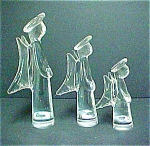 Click here to enlarge image and see more about item A361: Vintage Crystal Angel Trio