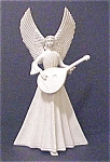 Click here to enlarge image and see more about item A362: Vintage Porcelain Angel With Mandolin