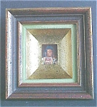 Click here to enlarge image and see more about item A371: Vintage Custom Framed Stamp Native American