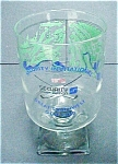 Click here to enlarge image and see more about item A383: Vintage Golf Club Glass - Souvenir