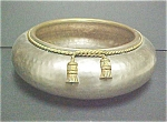 Click here to enlarge image and see more about item A385: Solid Brass Repousse Bowl