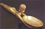 Click to view larger image of Egyptian Style Figurine With Bowl - Signed (Image1)