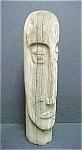 Click here to enlarge image and see more about item A398: Carved Wooden Folk Art Face