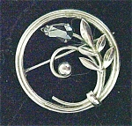 Click here to enlarge image and see more about item A401: Silver Colored Art Nouveau Style Pin