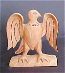 Click here to enlarge image and see more about item A404: Hand Carved  Folk Art Eagle