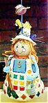 Click here to enlarge image and see more about item A405: Vintage Kitsch  Folk Art Lady