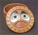 Click to view larger image of Vintage NW Native American Style Trinket Box (Image1)