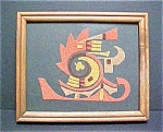 Click to view larger image of Unusual Framed Sandstone Painting (Image1)