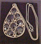 Click to view larger image of Vintage Pendant With Faceted Stones (Image1)