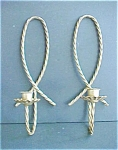 Pair Antiqued Twisted Rope Metal Sconces