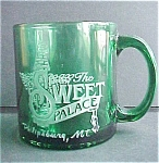 Click here to enlarge image and see more about item A439: Sweet Palace Green Glass Mug