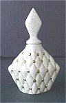 Click here to enlarge image and see more about item A451: Vintage Ceramic Perfume Bottle - Signed