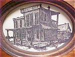 Click here to enlarge image and see more about item A473: Western Drawing of the Golden Belle Saloon
