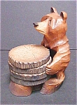 Click here to enlarge image and see more about item A479: Bear Holder With Four Coasters