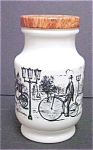 Click here to enlarge image and see more about item A481: White Glass Victorian Style Design Jar