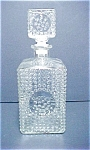 Click here to enlarge image and see more about item A484: Hobnail Glass Decanter