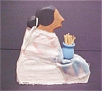 Click here to enlarge image and see more about item A497: SW Wood Native American Woman Figure