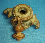 Click to view larger image of Brass Inkwell - Elephant with Bird on Lid (Image6)