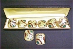 Click here to enlarge image and see more about item A719: Vintage Art Deco Bracelet/Earring Set