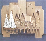 Click to view larger image of Wooden Art / Harbor  Wall Hanging (Image1)