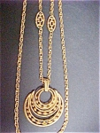 Click to view larger image of Trifari Goldtone Pendant Necklace (Image1)
