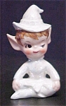 Click here to enlarge image and see more about item A761: White Luster Glazed Pixie