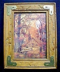Western Woodland Print Under Glass - Signed
