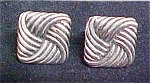 Click to view larger image of Swank Silvertoned Vintage Cufflinks (Image1)