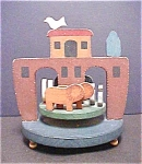 Click here to enlarge image and see more about item A819: Noah's Ark Animal Music Carousel