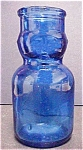 Click here to enlarge image and see more about item A824: Blue Glass Baby Top Milk Shaped Bottle