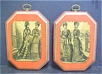 Click here to enlarge image and see more about item A840: Vintage Set Decoupage Plaques