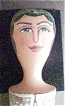 Click to view larger image of Folk Art Wooden Angel - Hand Painted (Image1)