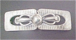 Click here to enlarge image and see more about item A884: Art Deco Silver-toned Belt Buckle - 2 Pc