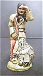 Click here to enlarge image and see more about item A885: Vintage Indian Scout Figure - Signed
