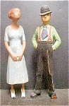 Vintage Folk Art Figures - Male & Female