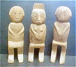 Three Akha Tribal Spirit Figures - Thailand