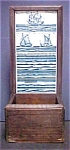 Click to view larger image of Vintage Wood Wall Box/Delft Style Tiles (Image1)