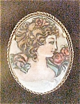 Click to view larger image of Handmade Porcelain Cameo Pine/Pendant (Image1)