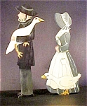Amish Folk Art - Couple with Geese - Signed