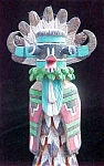 Carved Kachina & Mudhead - Signed S. Goyola
