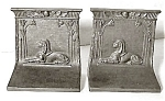Click here to enlarge image and see more about item AA173: Bradley & Hubbard Cast Iron Sphinx Bookends