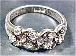 Click here to enlarge image and see more about item AA181: Petite Silver Ring with Rhinestones
