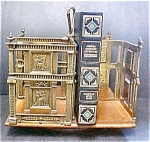 Click here to enlarge image and see more about item AA207: Antique  Wood/Brass Revolving Book Rack/Stand
