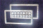 Click here to enlarge image and see more about item AA227: Geometric Silver-Toned Pin  W/ Rhinestones