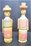 Click here to enlarge image and see more about item AA229: 2 Bolivian Wooden Folk Art Souvenir Figures
